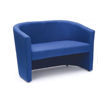soft seating - Titan Furniture Direct - Encounter Blue Fabric Tub Sofa
