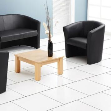 soft seating - Titan Furniture Direct - Encounter Black Leather Tub Chair