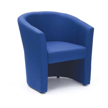 soft seating - Titan Furniture Direct - Encounter Blue Fabric Tub Chair