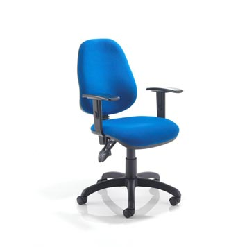 teachers chair - Titan Furniture Direct - 2 Lever Operators Chair In Blue With Adjustable Arms