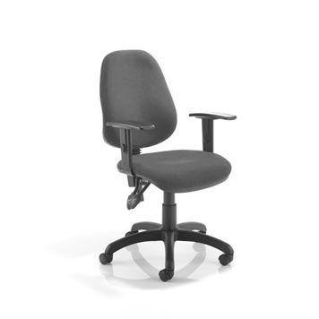 teachers chair - Titan Furniture Direct - 2 Lever Operators Chair In Charcoal With Adjustable Arms