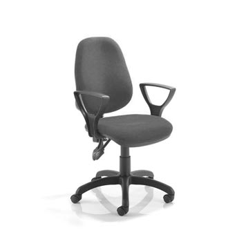 teachers chair - Titan Furniture Direct - 2 Lever Operators Chair In Charcoal With Fixed Arms