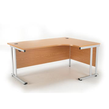 teachers desk - Titan Furniture Direct - Crescent Cantilever Workstation Oak