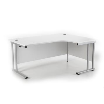 teachers desk - Titan Furniture Direct - Crescent Cantilever Workstation White