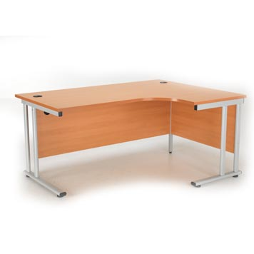 teachers desk - Titan Furniture Direct - Crescent Cantilever Workstation Beech